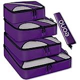 Amazon Brand - Eono 5 Set Cubos de Embalaje, 4 Tamaños Diferentes Equipaje de Viaje Organizadores de Embalaje y 1 Bolsa de La