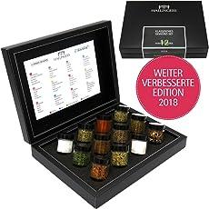 Hallingers GewürzMix Klassisches Gewürz-Set, z.B. für Muttertag, Vatertag, Valentinstag | Set/Mix | 12x Miniglas in DesignKarton | 190g