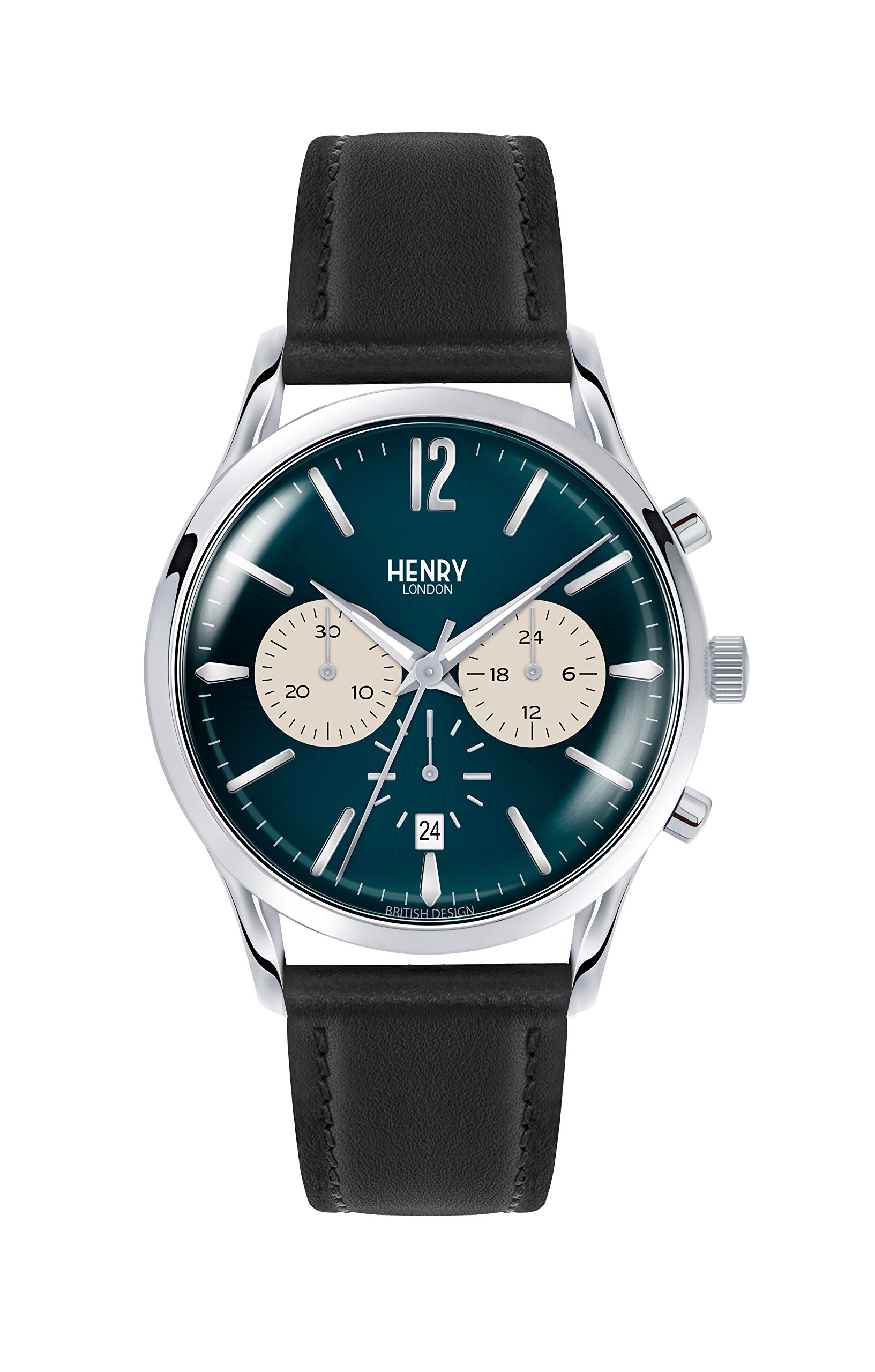 Henry London Knightsbridge Chronograph Quartz Unisex Wrist Watch Leather HL41