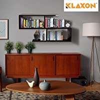Klaxon Home Decor Wall Shelves/Book Shelf And Storage | Wall Shelves Wooden S Shape - (Brown,Matte Finish)(Do It Yourself - Diy)