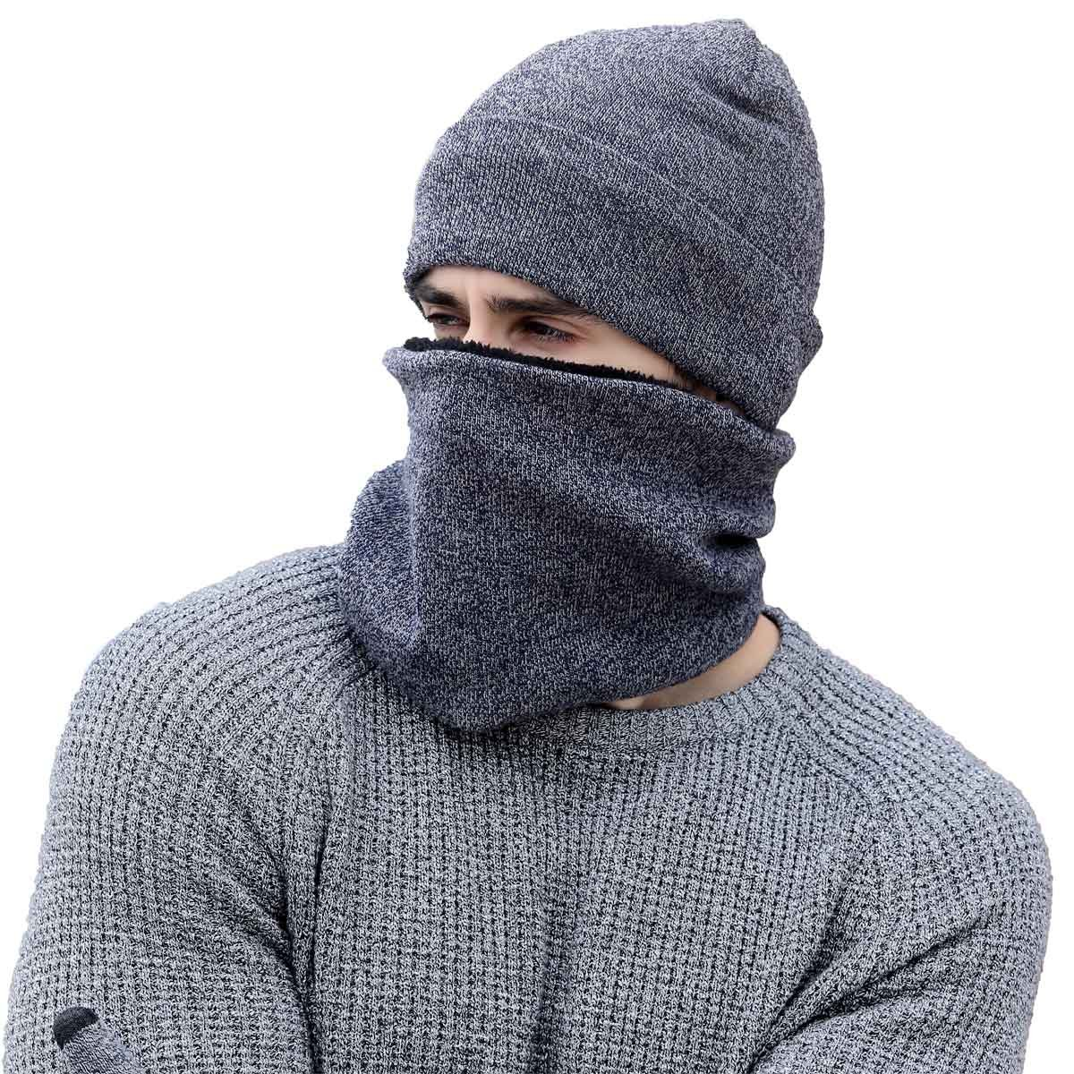 1b5a992206e0 heekpek Bufanda Gorro Guantes para Hombre Invierno Regalos para Hombre  Mujer Unisexo Set de Bufanda Conjunto de Guantes de Punto BufaSombrero de  ...