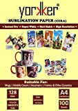 Yorkker Sublimation Paper CERA, Instant Dry, Super White, Heat Transfer Paper for Mug Printing, Mobile cases & Covers…