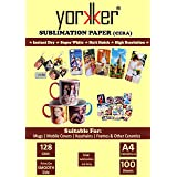 Yorkker Sublimation Paper CERA, Instant Dry, Super White, Heat Transfer Paper for Mug Printing, Mobile cases & Covers, Keycha