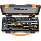 Beta 900/C11 - Valigia porta attrezzi professionale con 11 Chiavi a Bussola esagonali, 20 inserti per avvitatori Torx e 8 acc