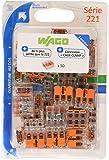 Wago WAG221344_BL50 Pack de 50 Bornes de connexion universelle tous conducteurs Type 221/ 3 entrées