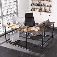 Dripex Schreibtisch Computertisch Gaming Tisch Mit L-Form, Eckschreibtisch PC-Tisch Bürotisch 155 x 155 x 75 cm für PC…