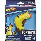 Nerf MicroShots Fortnite Micro Peely -- Mini-dartblaster en 2 officiële Nerf Elite-darts -- Voor kinderen, tieners en volwass
