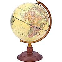 Exerz 20cm Antiker Globus mit Holzfuß - für Kinder Büro Deko Inneneinrichtung -Schülerglobus - Englischer Sprache…