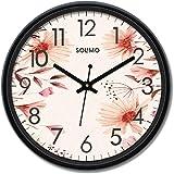 Amazon Brand - Solimo 12-inch Wall Clock - Blossom (Silent Movement)