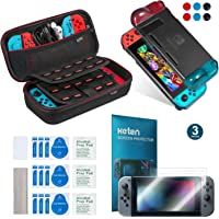 Keten Kit accessori 11 in 1 per Nintendo Switch, include Custodia da trasporto per Nintendo Switch / Custodia Cover…