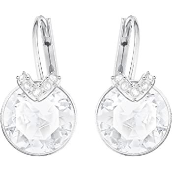 1c999667d Swarovski Women's Rhodium Plating and White Crystal Bella V Pierced Earrings