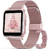 """Smartwatch Mujer, Hommie Reloj Inteligente Mujer 1.3"""" Táctil Completa, Pulsera Actividad Mujer IP68 con 17 Deportes, Pulsómet"""