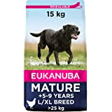 Eukanuba Mature droogvoer voor rijpe grote honden met vers kip, 15 kg