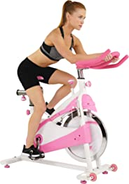 Sunny Health & Fitness Unisex Adult P8150 Belt Drive Premium Indoor Cycling Bike - Pink, One Size