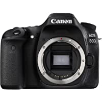Canon EOS 80D 24.2MP Digital SLR Camera (Black) Body + Memory Card