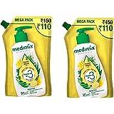 Medimix Ayurvedic Nature Fresh with Lemon, Tulsi, Aloe Vera - Hand Wash Mega Pack Refill Pouch (Pack of 2), 1500 ml