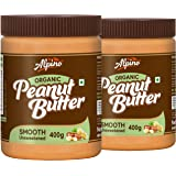 Alpino Organic Natural Peanut Butter Smooth 800 G | Unsweetened | No Added Sugar | No Added Salt | No Hydrogenated Oils…