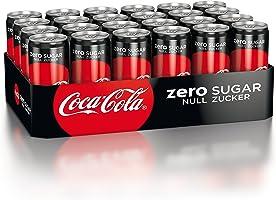 Coca-Cola Zero Sugar, Koffeinhaltiges Erfrischungsgetränk in stylischen Dosen mit originalem Coca-Cola Geschmack - null...