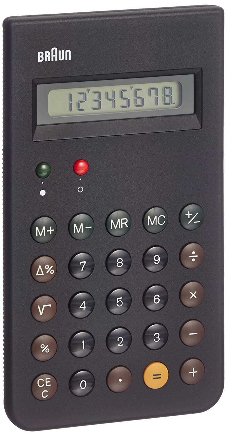 braun calculator black co uk office products