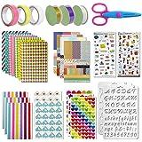 Scrapbooking kit,50 PCS Scrapbooking Accessoires Autocollant Album Photo Autocollants Amour DIY Agenda Cartes Décoration pour