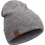 Wmcaps Gorro Hombre, Gorros de Punto para Hombre Mujer Unisex Slouch Cráneo Sombreros, Diseño Clásico Moderno y Suave