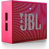 JBL Go Ultra Wireless Bluetooth Lautsprecher (3,5 mm AUX-Eingang, geeignet für Apple iOS und Android Smartphones, Tablets und MP3 geräten) pink
