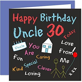 Uncle 30th Happy Birthday Card