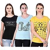 MODISH Women's T-Shirt (Pack of 3)