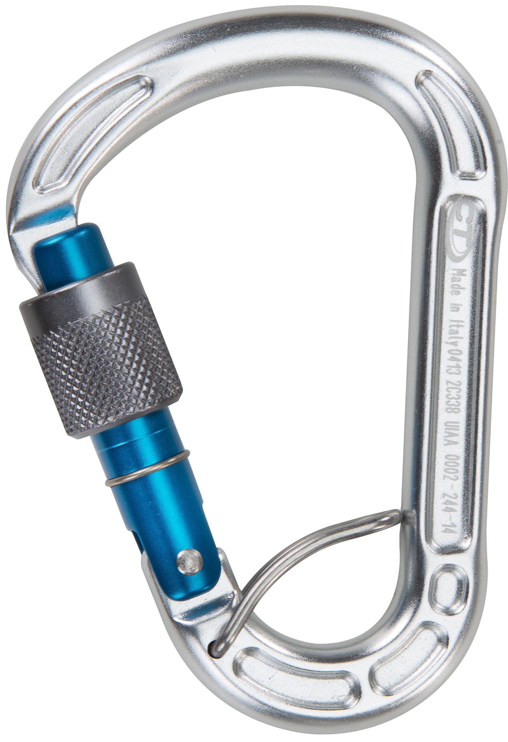 Climbing Technology Concept SGL – Mosquetón de Escalada con Seguro, Color Azul