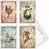 20 vintage Osterkarten, Postkarten zu Ostern, 4 verschiedene Designs, Oster-Postkarten, 14,8 x 10,5 cm