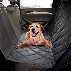 Comfy-High Quality Pet Seat Cover, Quilted Non-Slip Technology, Waterproof, Hammock Dog Seat Protector for All Cars