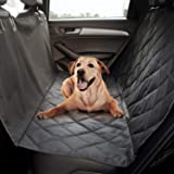 Comfy Fabric Quilted Non-Slip Technology, Waterproof, Hammock Dog Seat Protector-Large (Black)