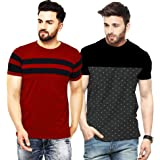 LEOTUDE Regular Fit Cotton Men's T-Shirt Combo (Pack of 2)