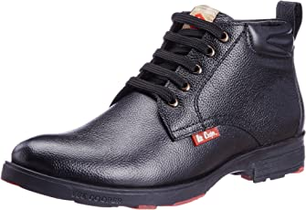 Lee Cooper LC9519 Black P1 Men Leather Boot.