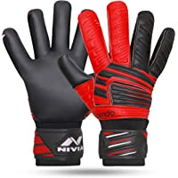 Nivia GG-893 Torrido Football Gloves,Assorted color (Black/Orange)
