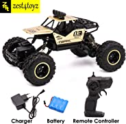 Zest 4 Toyz Four Wheel Drive1:16 Metal Alloy Body Remote Control Rock Crawler High Speed Monster Racing Car-Assorted Color