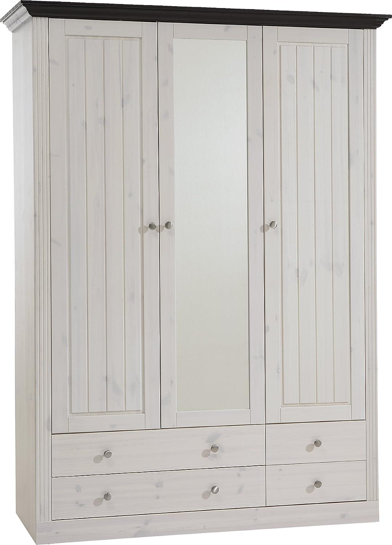 Steens Monaco Kleiderschrank, Kiefer massiv, 3 türig, 145x201x60 ...