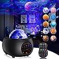 Lampe Projecteur Étoile, Gvoo Projecteur Ciel Etoile 32 Modes 10 Planètes, Veilleuse Enfant Rechargeable Lampe Projecteur LED