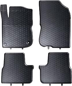 Velours Tapis Automobiles Set de 2 Tapis de Pieds Mossa Tapis de Sol Noir 5902538787895