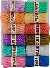 Siotm Sio Polyurethane Large Reusable Fridge Vegetable Net Bag, Pack Of 12, Multicolour