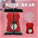 Rosbjörn, ros nalleros, rosbjörn för evigt konstgjorda blommor de bästa gåvorna för kvinnor, gåvor till flickvän, gåvor till