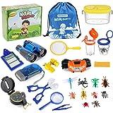 Bammax Set de Aventura Natural para Niños, Set de Exploración al Aire Libre, Binoculares para Niños, Juguetes Educativos para