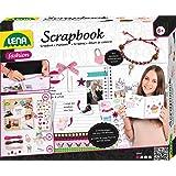 LENA Scrapbooking Complet avec Cadenas, 22 Kits de Broderie avec 370 Motifs, Coins Photo et Accessoires pour Bracelets, pour