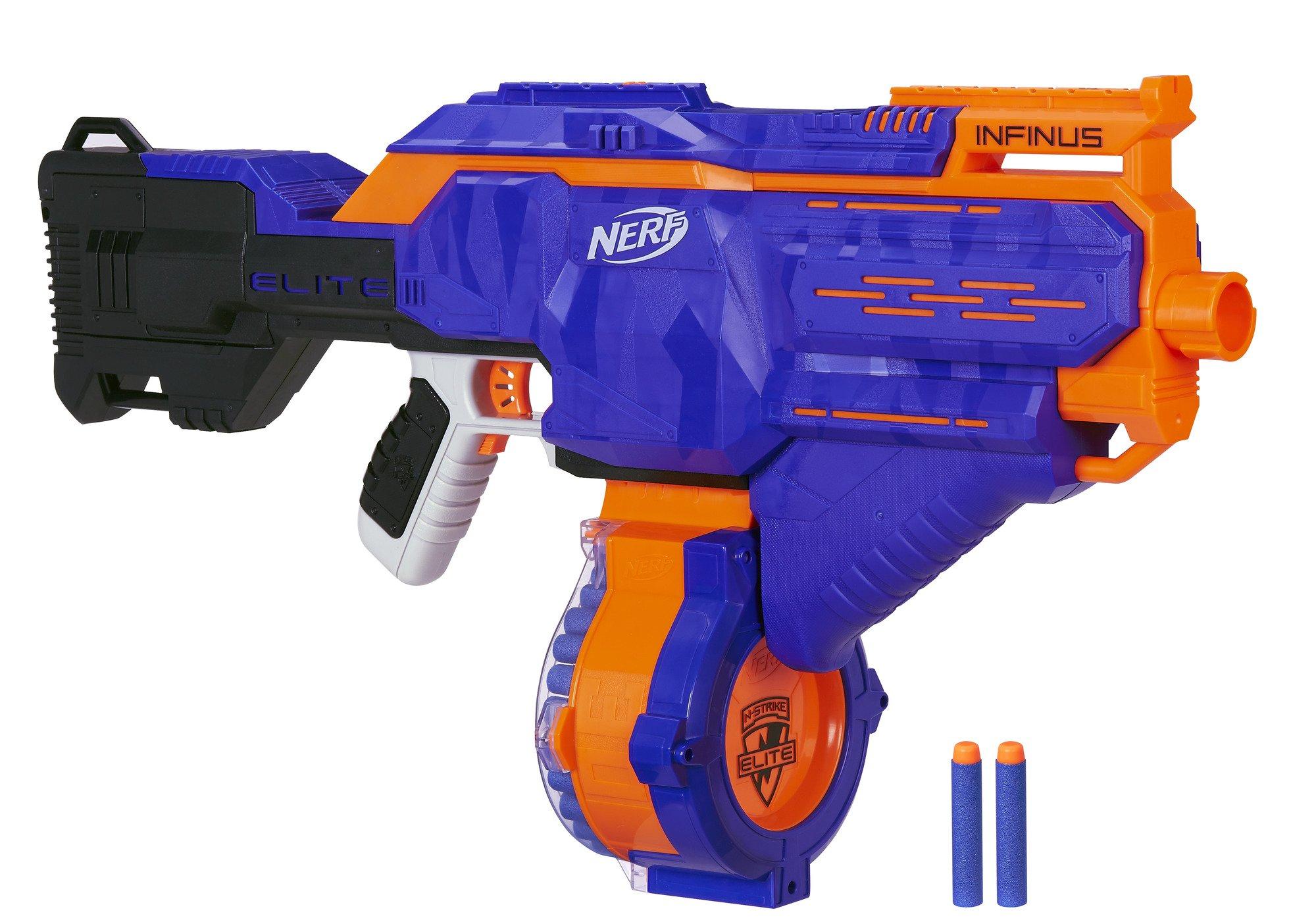 Hasbro Nerf E0438EU4 Nerf N-Strike Elite Infinus, voll-motorisierter Spielzeug-Blaster, mit Schnell-Lade-Technologie…