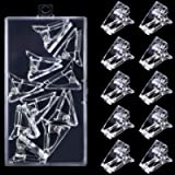 10Pcs Nail Tips Clips with Box,Transparent Polygel Nail Clips,Quick Building Finger Nail Extension UV LED Plastic…