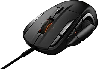 SteelSeries Rival 500, Optical Gaming Mouse, RGB Illumination, MMO, 15 Buttons, Tactile Alerts, (PC/Mac) - Black