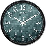 Amazon Brand - Solimo 12-inch Wall Clock - Matrix (Silent Movement)