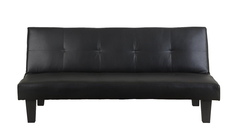 Birlea Franklin Sofa Bed Faux Leather Black Amazoncouk