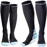 CAMBIVO 2 paar compressie sokken voor vrouwen en mannen, geschikt voor hardlopen, atletische sporten, Crossfit, vlucht, reize