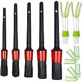 Reinigingsborstel auto-interieur, 10 - 12 - 14 - 16 - 18 borstelgroottes voor elke tussenruimte, 2 x reinigingsborstel ventil